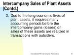 intercompany sales of plant assets contd