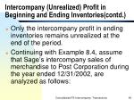 intercompany unrealized profit in beginning and ending inventories contd