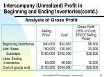 intercompany unrealized profit in beginning and ending inventories contd50