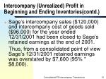 intercompany unrealized profit in beginning and ending inventories contd51
