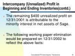 intercompany unrealized profit in beginning and ending inventories contd52