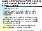 issues in intercompany profit in ending inventories and amount of minority interest contd56