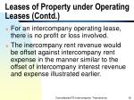leases of property under operating leases contd
