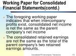 working paper for consolidated financial statements contd172