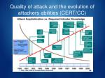 quality of attack and the evolution of attackers abilities cert cc