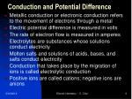conduction and potential difference