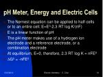 ph meter energy and electric cells