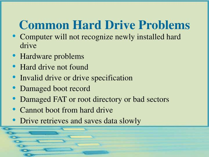 Common Hard Drive Problems