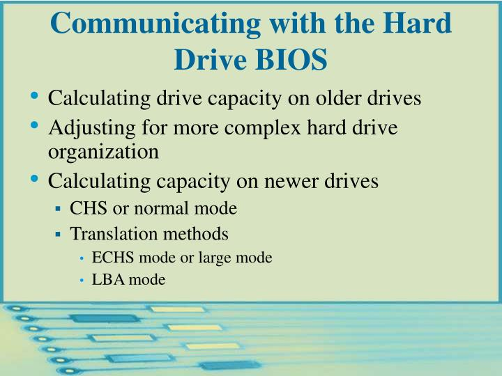 Communicating with the Hard Drive BIOS