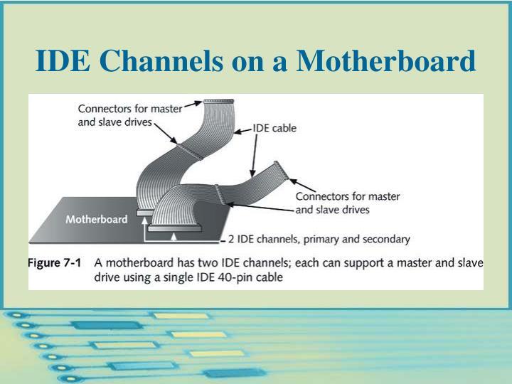 IDE Channels on a Motherboard
