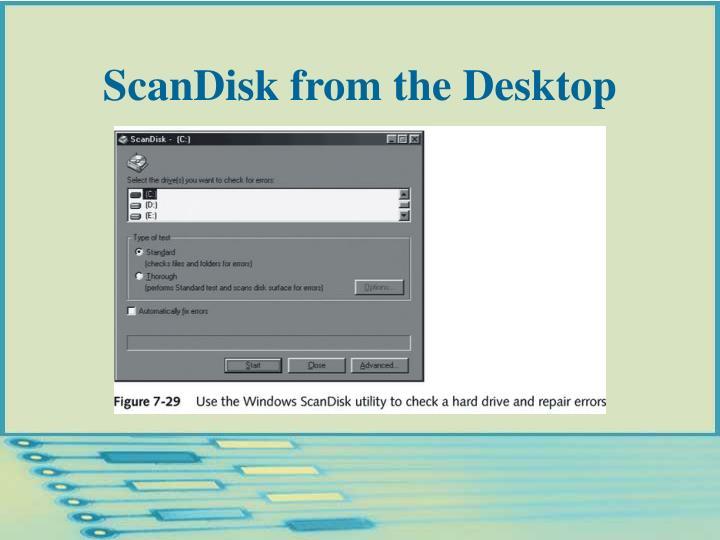 ScanDisk from the Desktop