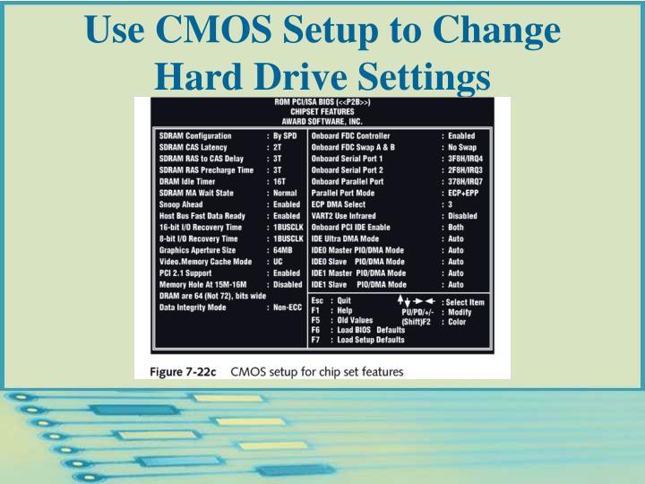 Use CMOS Setup to Change Hard Drive Settings