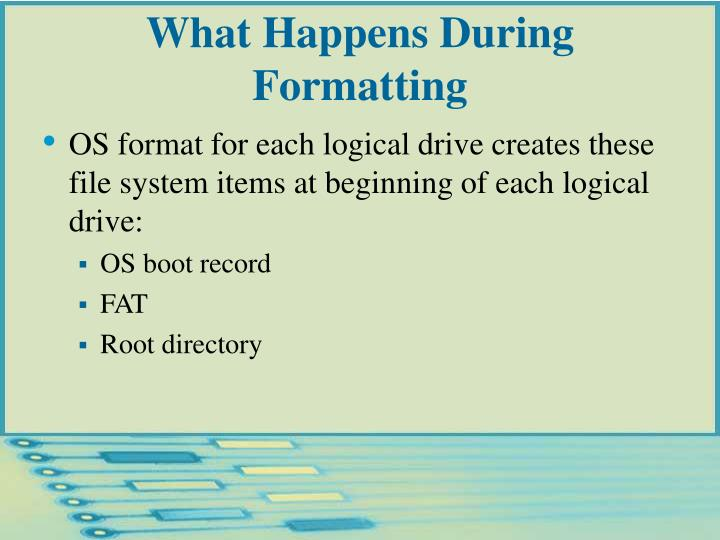 What Happens During Formatting