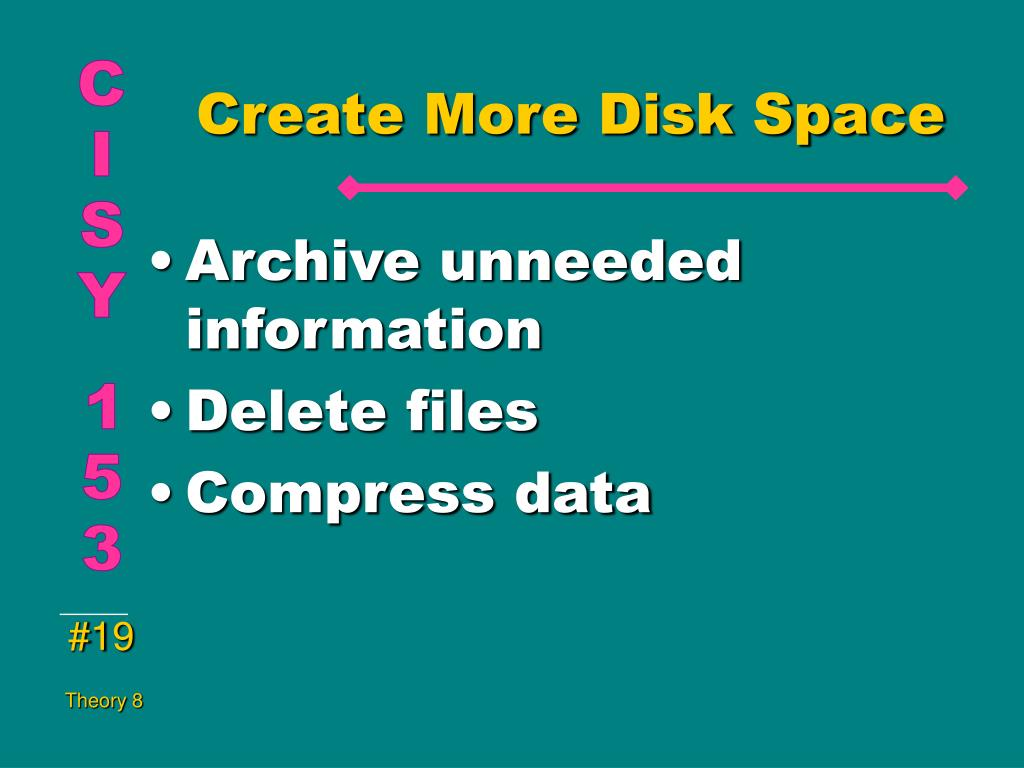 Create More Disk Space
