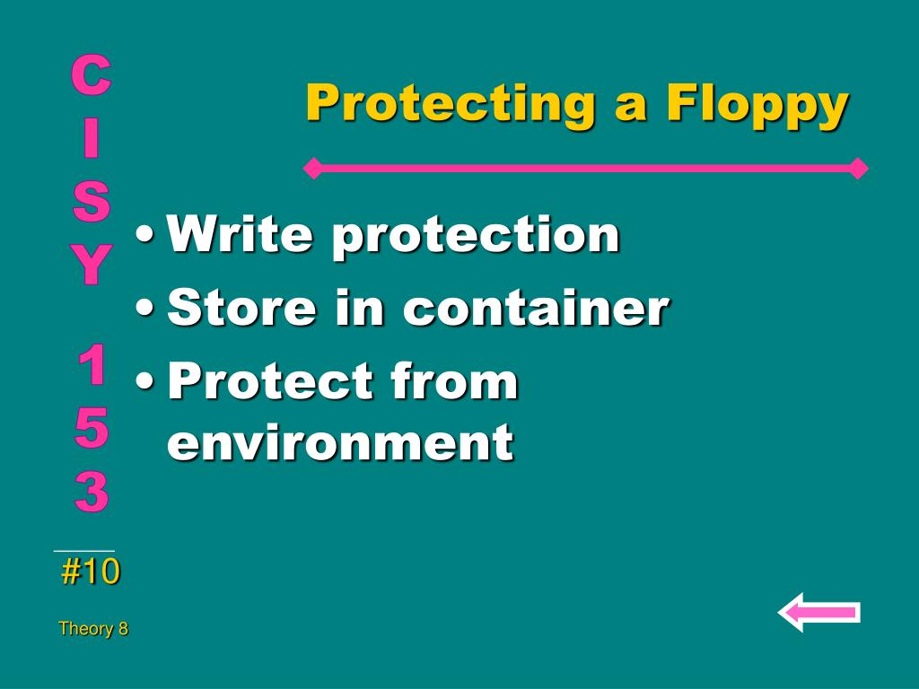 Protecting a Floppy