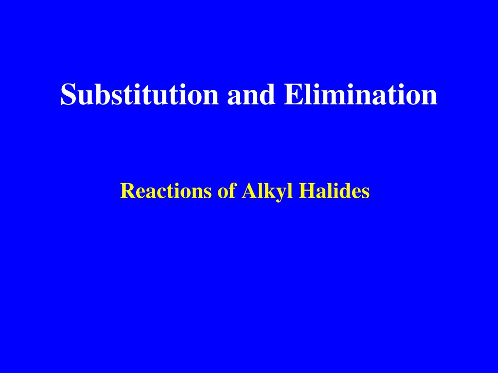 substitution and elimination l.