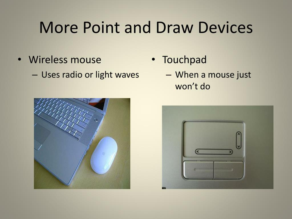 More Point and Draw Devices