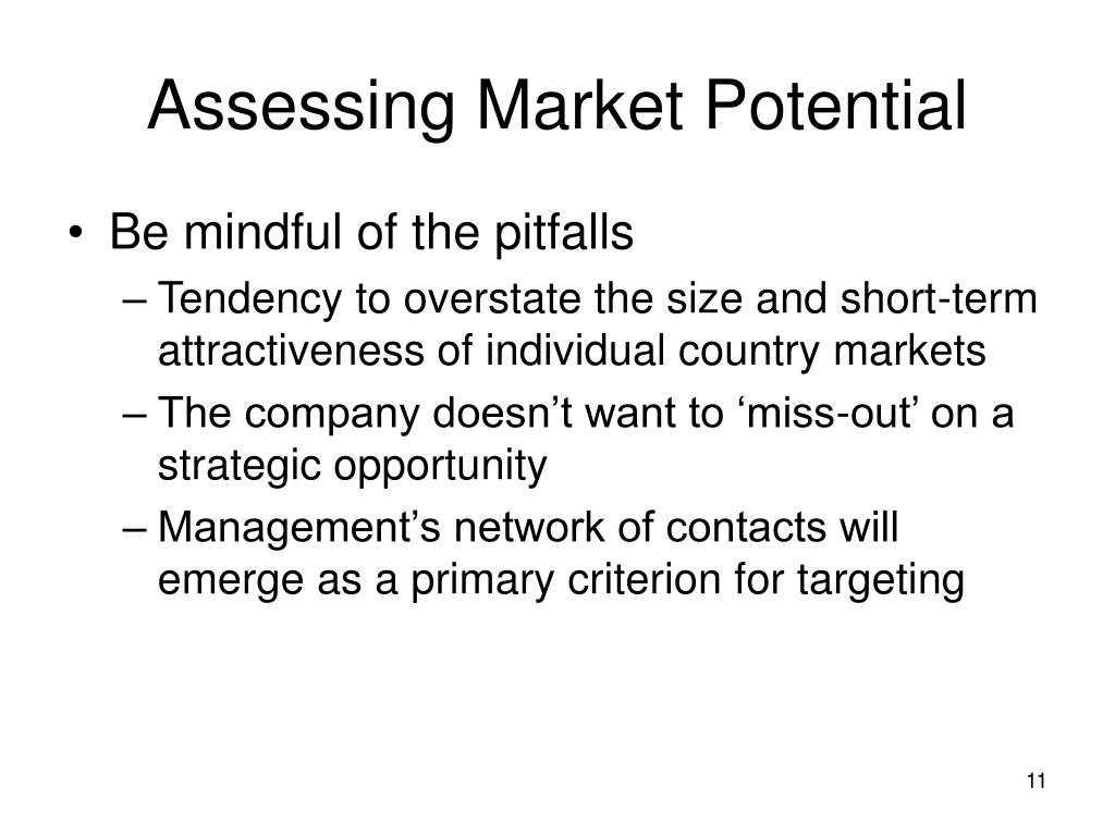 Assessing Market Potential