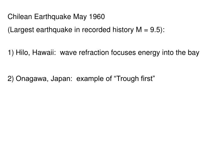 Chilean Earthquake May 1960