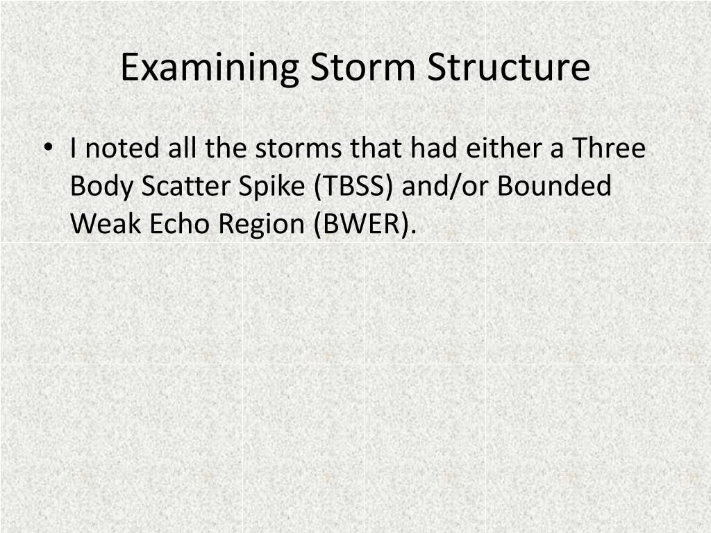 Examining Storm Structure