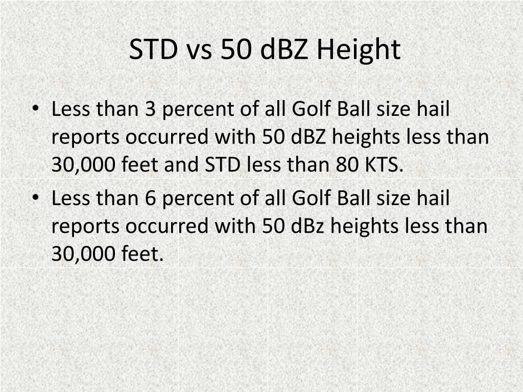STD vs 50 dBZ Height