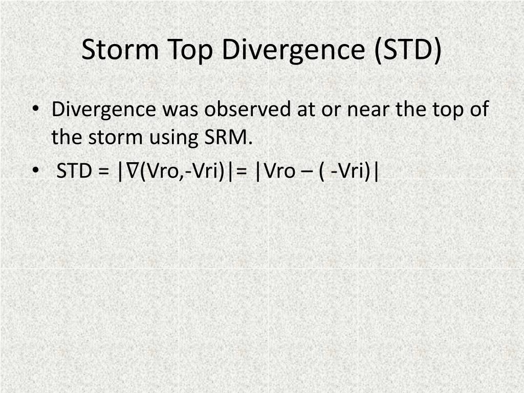 Storm Top Divergence (STD)