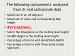 the following components analyzed from zr and radiosonde data10