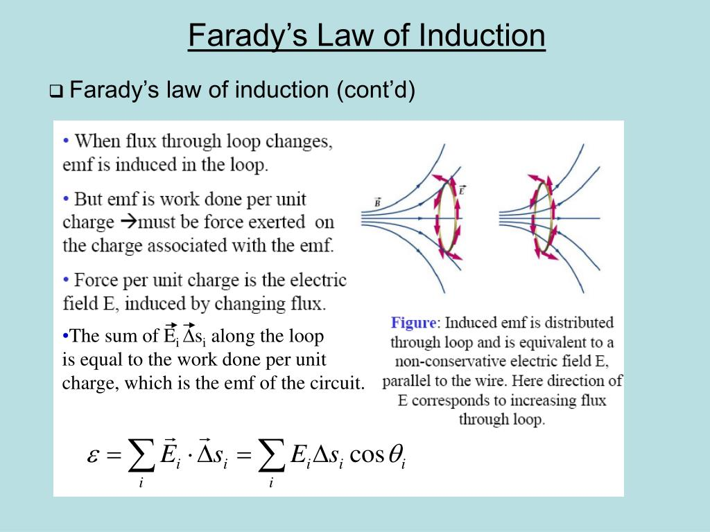 Farady's law of induction (cont'd)