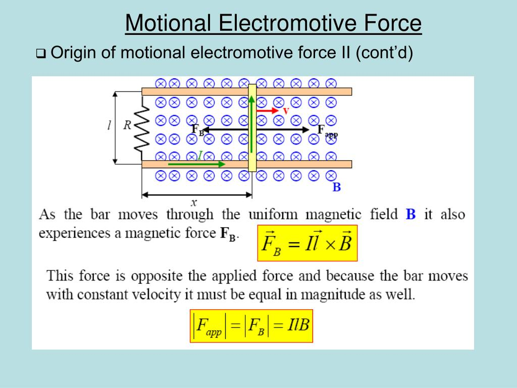 Origin of motional electromotive force II (cont'd)