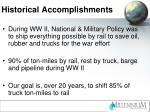 historical accomplishments