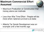 maximum commercial effort assumed