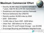 maximum commercial effort