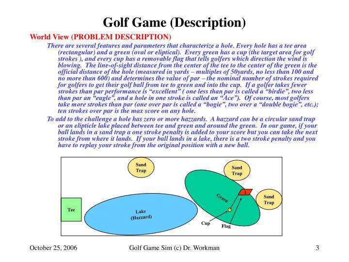 Golf game description3