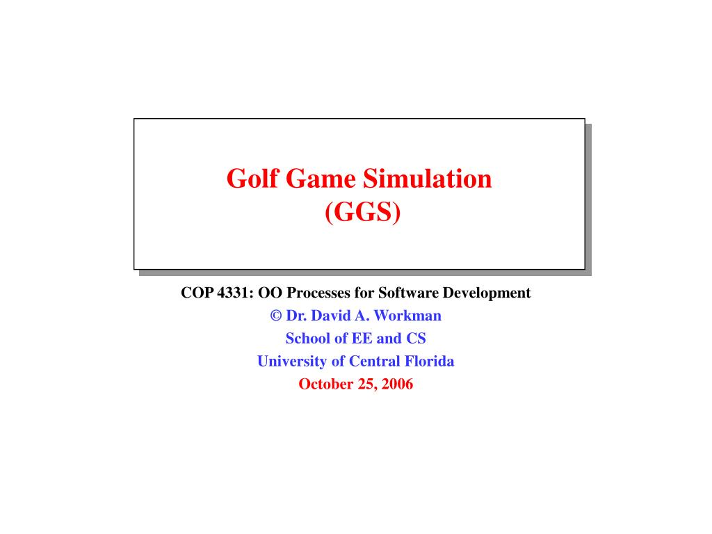golf game simulation ggs l.