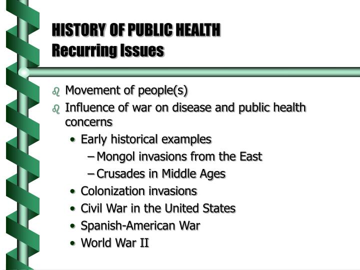 history of public health essay Public health we can deliver a superb text on any topic for you there are various means by which i see a master's in public health as helpful with the plans that i have for my career my great interest and passion in the field serves as my main motivation along with the plans that i have.