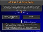 athena trial study design