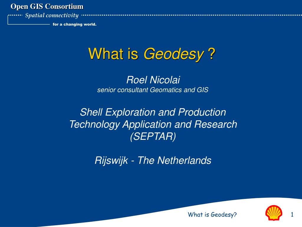 What is geodesy 27