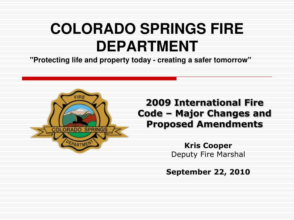 colorado springs fire department l.