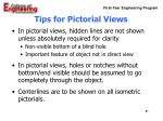 tips for pictorial views