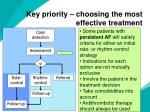 key priority choosing the most effective treatment