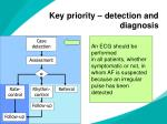 key priority detection and diagnosis