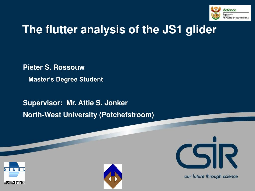PPT - The flutter analysis of the JS1 glider PowerPoint