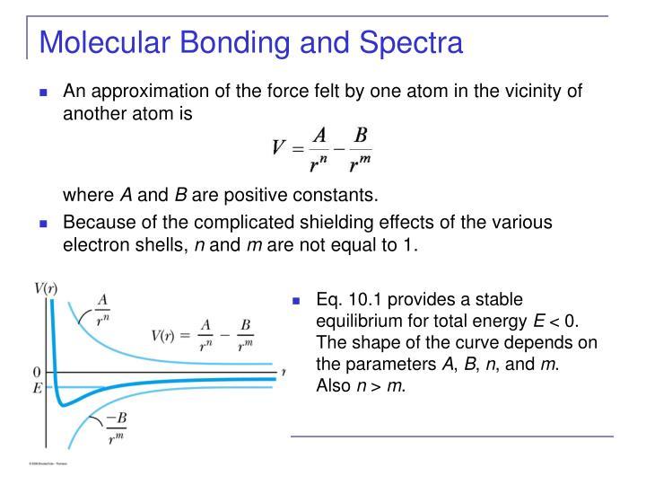 Molecular bonding and spectra3