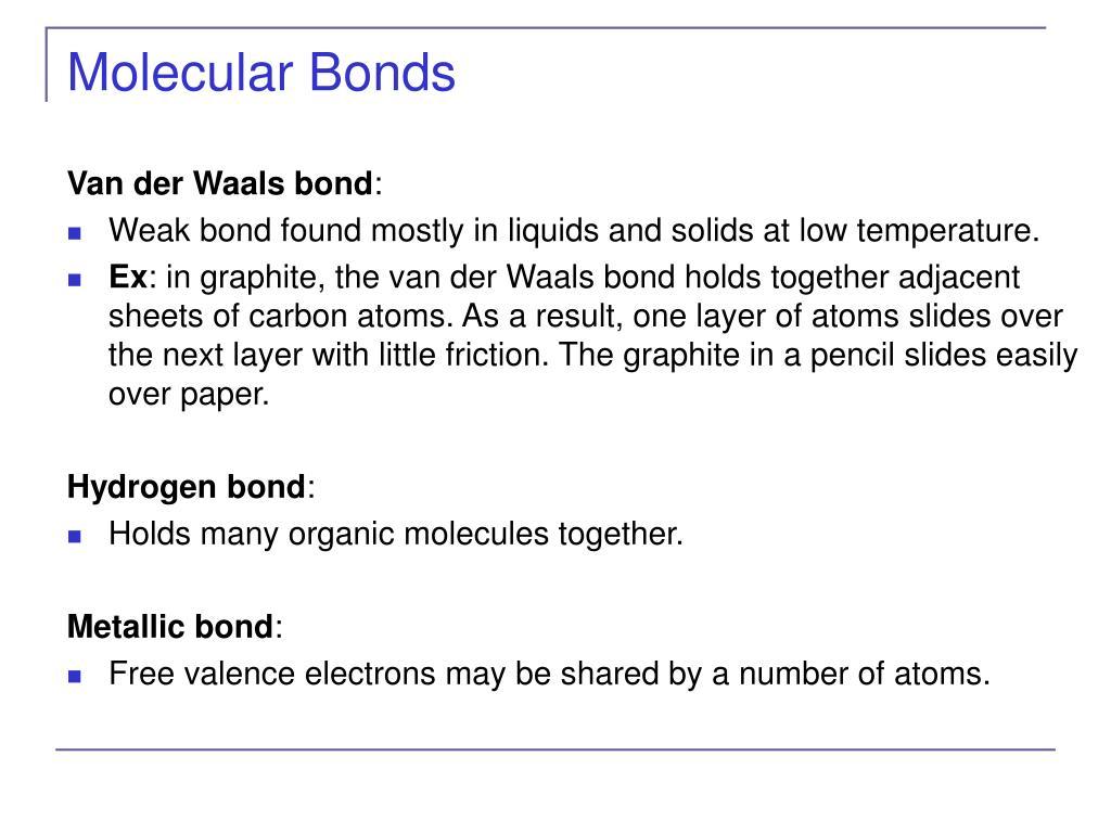 Molecular Bonds