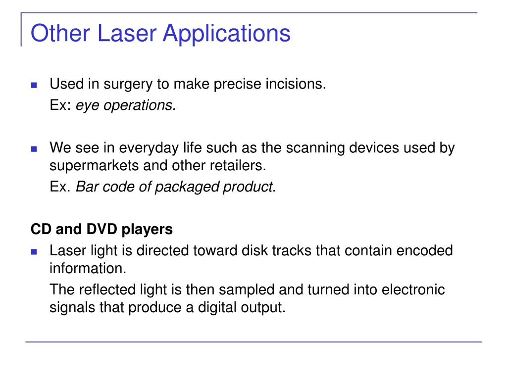 Other Laser Applications