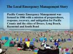 the local emergency management story