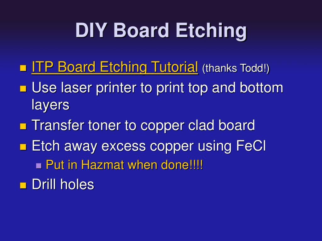 DIY Board Etching
