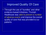 improved quality of care