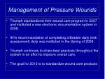 management of pressure wounds