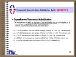 component characteristics substitution guide capacitors18